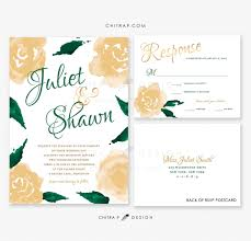 green gold wedding invitations u0026 rsvp cards printed white