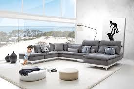 home canapé canapé tissu horizon base en cuir sur couette et tétières