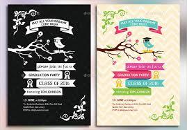 7 graduation party invitations free editable psd ai vector