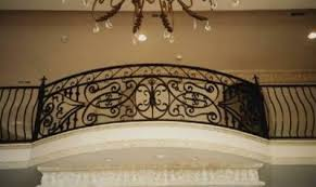 custom wrought iron interior railing design