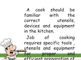 Kitchen Cooking Utensils Names by Use And Maintain Kitchen Tools And Equipment