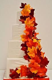 fall themed wedding fall themed wedding cake photo wedding cake cake ideas by