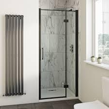 Easy Clean Shower Doors Mode Cooper Black Hinged Easy Clean Shower Door Clean Shower