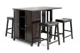 bar table with storage base baxton studio aurora 5pc dark brown pub table set w cabinet base