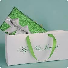 Wholesale Wedding Invitations Chinese Wholesale Wedding Card Fresh Green Handbag Purse Theme