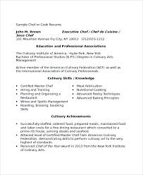 cook resume culinary resume examples culinary resume how to
