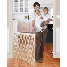 Extra Wide Pressure Mounted Baby Gate Munchkin Wide Spaces Expanding Gate Walmart Com