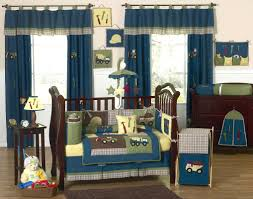 blue green construction baby boy bedding 9pc nursery crib set