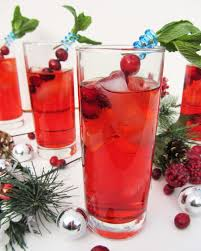 cranberry gin fizz and merry christmas once upon a cutting board