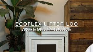 ecoflex jumbo litter loo hidden kitty litter box end table new age pet ecoflex litter loo end table espresso standard