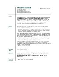 resume templates for students resume resume templates college