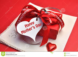 s day present happy mothers day present with gift tag message stock image