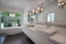 Bathroom Ideas Double Sink Floating Bathroom Vanity Under Wall - Mid century bathroom vanity light