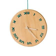 cool house clocks wanduhr stitched u2013 pinie dekor türkis metrocuadro design mit