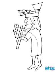 Un joli coloriage du Musicien mochica une personne emblématique de
