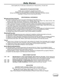 sle chronological resume resume chronological exles