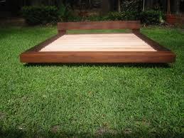 Simple Wood Platform Bed Plans by Bedroom Simple Mahogany Teak Beach Bed Design Outdoor Photo In