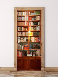 Wood Wall Stickers by 3d Wooden Bookshelf Door Wall Sticker Brown Cm In Wall Stickers