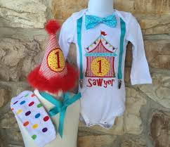 first birthday circus customizable carnival circus theme first birthday shirt set