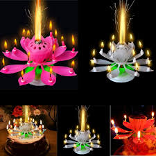 candle sparklers 5pcs set amazing musical lotus rotating happy birthday