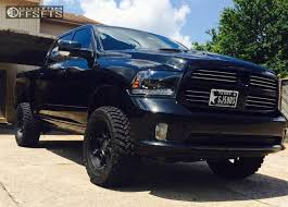 dodge ram black wheel offset 2015 dodge ram 1500 slightly aggressive suspension