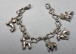 tiffany charm bracelet with charms images Ml 100 tiffany co sterling dog charm bracelet dog bone link jpg