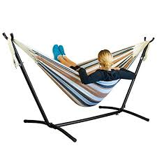 driftsun space saving 9 8 ft steel hammock stand with two person