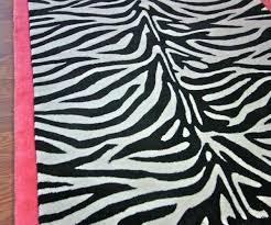 congenial decor idea zebra stripe area rug pink along with brown