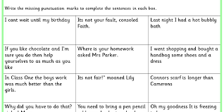 missing punctuation ks1 spag test practice classroom secrets