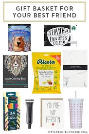 gift basket for your best friend it starts with coffee a