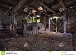 interior an old decaying barn stock photo image 33880500