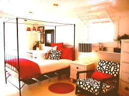 Red And Black Bedroom Decor Interior Design Romantic Red Master Bedroom Black White And