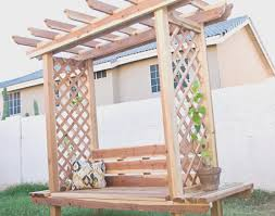pergola arbor bentwood fence gate making trellises fences