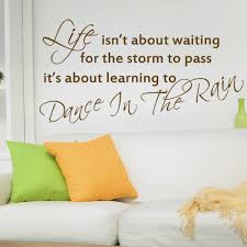 high quality rain quotes promotion shop for high quality life is dance in the rain inspirational wall stickers quotes vinyl letterings sayings wall decal 14