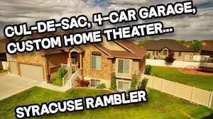 custom home theater 6 bed 3 full bath syracuse rambler home for sale custom home