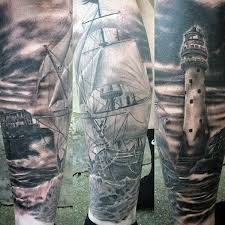 lighthouse in storm tattoo ideas pictures to pin on pinterest