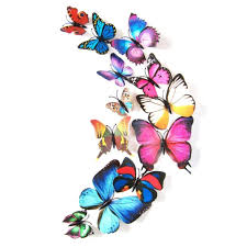 amazon com night light tuscom 10 pcs led butterfly wall stickers blue 24pcs 3d butterfly wall stickers decor art decorations 3 size