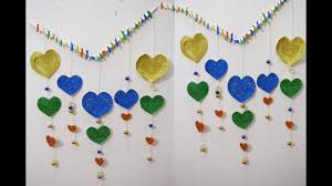 how to make wall decorations with paper 3d heart shaped wall