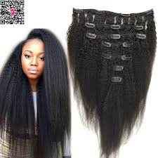 cheap human hair extensions cheap coarse yaki clip in hair extensions mongolian