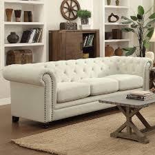 traditional sofa in cream
