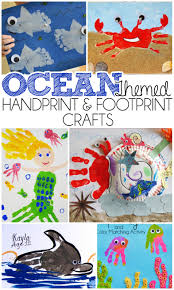 Kids Handprint Crafts Ocean Themed Handprint And Footprint Crafts I Heart Arts N Crafts
