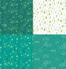 blue pattern background html wild forest hand drawn seamless pattern background set wallpaper