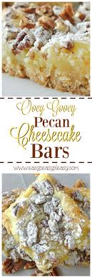 cuisiner du bar au four ooey gooey pecan cheesecake bars