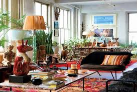 eclectic bohemian decorating style for living room ideas