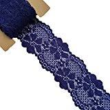 navy lace ribbon blue lace trim embellishments arts crafts sewing
