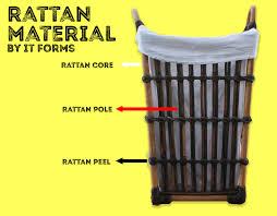 rattan material process rattan wicker basket manufacturer