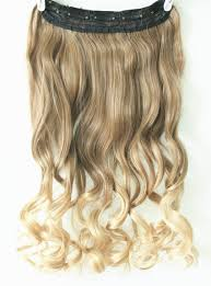 light brown hair piece amazon com 3 4 full head clip in hair extensions ombre one piece 2