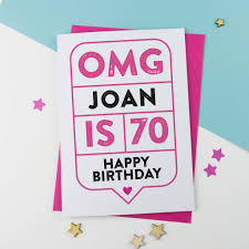 70th Birthday Cards Omg 70th Birthday Card Personalised By A Is For Alphabet