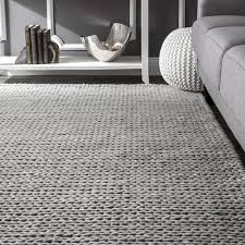 Light Gray Area Rug Makenzie Woolen Cable Woven Light Gray Area Rug Reviews