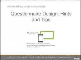 questionnaire design access webinar recording questionnaire design hints tips